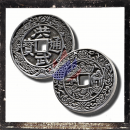 Chinese lucky coin in the form of a trailer without eye (V)