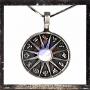 12 zodiac signs on sun medallion