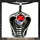 Egyptian Cobra with RED polished glass stone on the head
