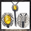 BOLOTIE / WESTERN TIE - worked filigree AMBER imitation (II)