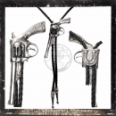 BOLOTIE / WESTERN TIE - worked filigree as a COLT / GUN /...