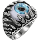 Demon Ring Eye 316L Stainless Steel Biker Maya