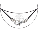 Stainless steel necklace with black rubber seal ca. 55cm Ø ca. 1,4mm