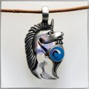 Unicorn with *BLUE* polished glass insert (IX)