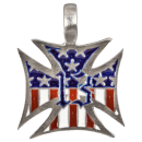 Iron Cross with USA Flag and 13