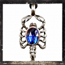 Filigree Scorpio with 1 BLUE cut glass stone