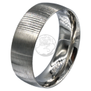 Friendship-, Partner Ring, BRUSHED 7,9 -Stainless Steel 316L
