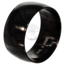 Friendship-, Partner Ring, BLACK 11,8 -Stainless Steel 316L-