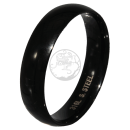 Friendship-, Partner Ring, BLACK 5,9 -Stainless Steel 316L-