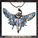 Winged Elf with LIGHTBLUE cut glass stones