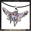 Winged Elf with PINK cut glass stones