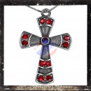 Gothic Cross with 1 Central & 10 cut glass stones