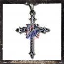 Gothic cross with pentagram and ornaments