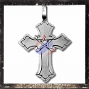 Gothic cross with pentagram