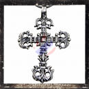 Gothic cross with filigree ornaments (X)