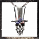 Grinning skull with cylinder hat (about 19 g, about 4.3 x 2.5x1.3cm)