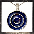 Celtic circles with BLUE glass insert