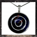 Celtic circles with PURPLE glass insert