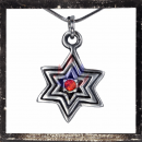 Celtic star with RED cut glass stone