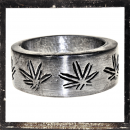 Massive Ring with *HEMP-LEAVE* (I)
