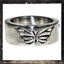 Massive Ring with stylized Butterfly (II)