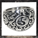 Massive Ring with Ying & Yang and Ornaments (III)