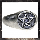 Massive Ring with inverted PENTAGRAM
