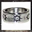 Massive Ring with with celtic sun ring (I)