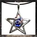 Pentagram with 1 BLUE cut glass stone