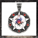 Pentacle with 6 RED cut glass stones