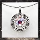 Pentacle with a RED central cut-glass stone
