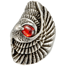 Eagle Swing Red Biker Ring Stainless Steel 316L