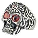 Skull (IV) Statement Biker Skullhead Ring Stainless Steel...