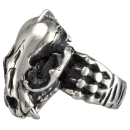 Dragon Skull movable Biker Ring Stainless Steel 316L