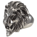 Lion Head Big Cat Biker Ring Stainless Steel 316L