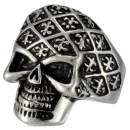 Skull (I) Statement Biker Skullhead Ring Stainless Steel...