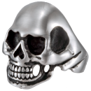 Skull (III) Statement Biker Skullhead Ring Stainless Steel 316L