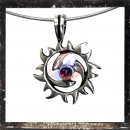 Round Triskel with sun and 1 *RED* central cut glass stone