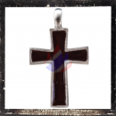 Smooth cross with black LACQUER inlay