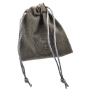 Jewelery bag made of GREY velor