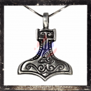 Stylized Thors hammer with Celtic symbols