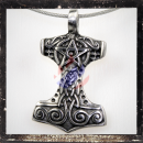 Thors Hammer with pentagram and ornaments