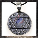 Round hexagram with mystic symbols (II)