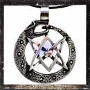 Dragon amulet with pentagram and ornaments (I)