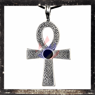ANKH with central black glass inlay