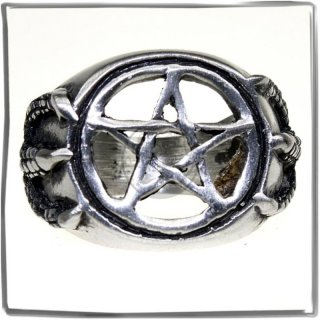 Massive Ring with *PENTAGRAM* and *DRAGON*-Claw