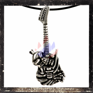 Musical Instruments: 6 string electric guitar with skeletons & skulls sound body