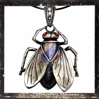 Giant FLY with RED cut glass stones as eyes