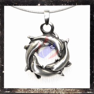 Celtic Dolphins as a circle-shaped amulet